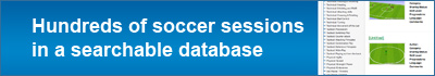 Hundreds of soccer sessions in a searchable database