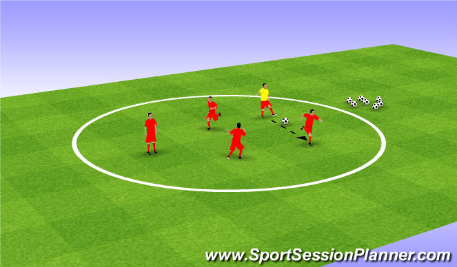Football/Soccer Session Plan Drill (Colour): Warm up game: Pacman