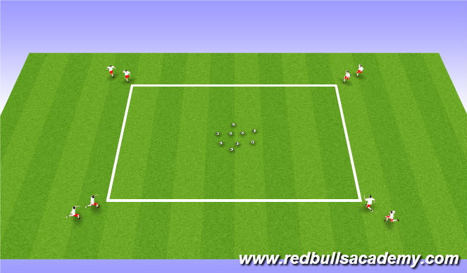 Football/Soccer Session Plan Drill (Colour): Goldrush