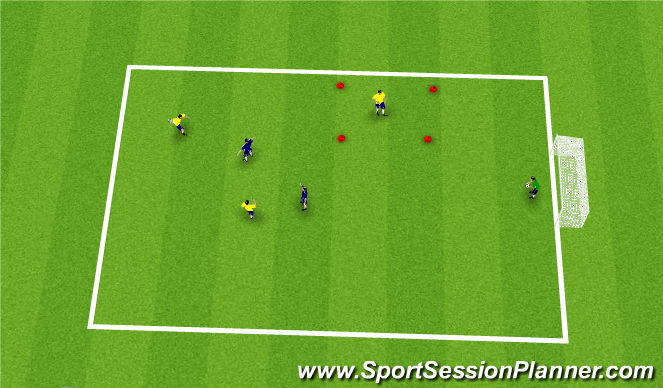 Football/Soccer Session Plan Drill (Colour): movement from the back