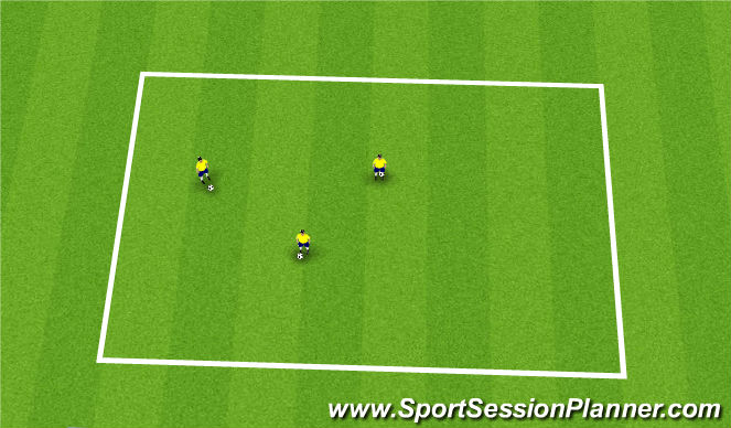 Football/Soccer Session Plan Drill (Colour): warm up-juggle