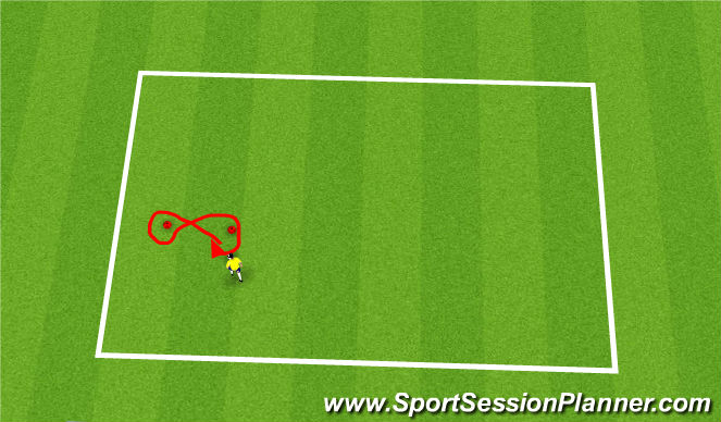 Football/Soccer Session Plan Drill (Colour): warm up- figure 8