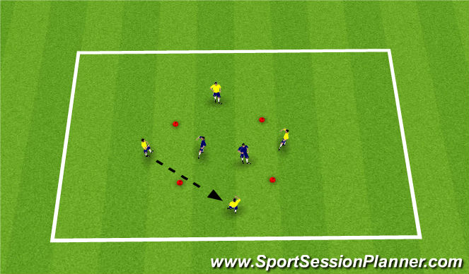 Football/Soccer Session Plan Drill (Colour): pressing/ defending
