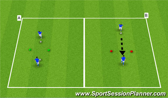 Football/Soccer Session Plan Drill (Colour): Opional: Technical Warm-up