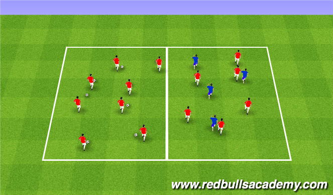 Football/Soccer Session Plan Drill (Colour): Warm/up