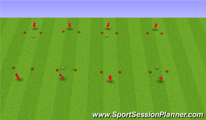Football/Soccer Session Plan Drill (Colour): Sendingar og móttaka.