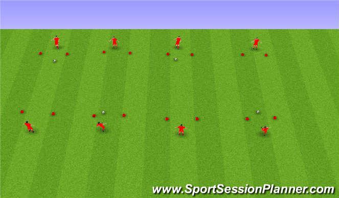 Football/Soccer Session Plan Drill (Colour): Sendingar og móttaka.