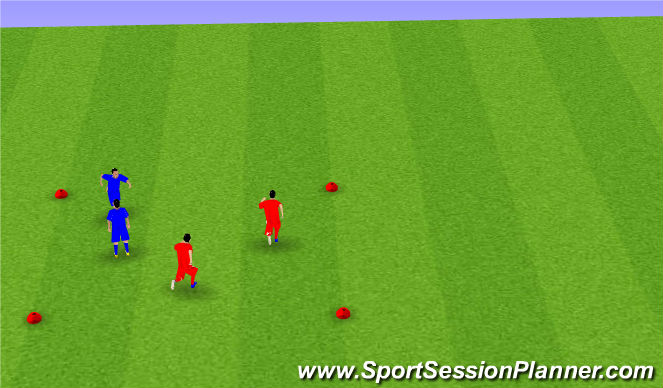 Football/Soccer Session Plan Drill (Colour): Shoulder Tag