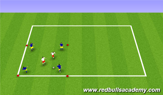 Football/Soccer Session Plan Drill (Colour): Rondo warm up