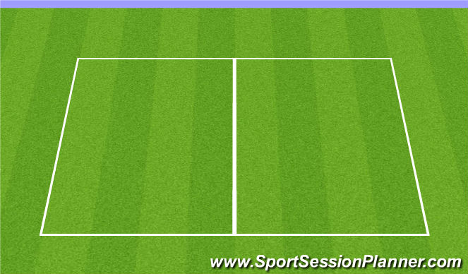Football/Soccer Session Plan Drill (Colour): Soccer Tennis Warm-up
