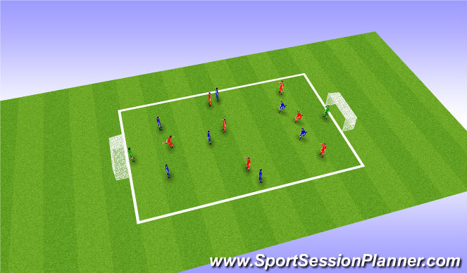 Football/Soccer Session Plan Drill (Colour): Game Practice