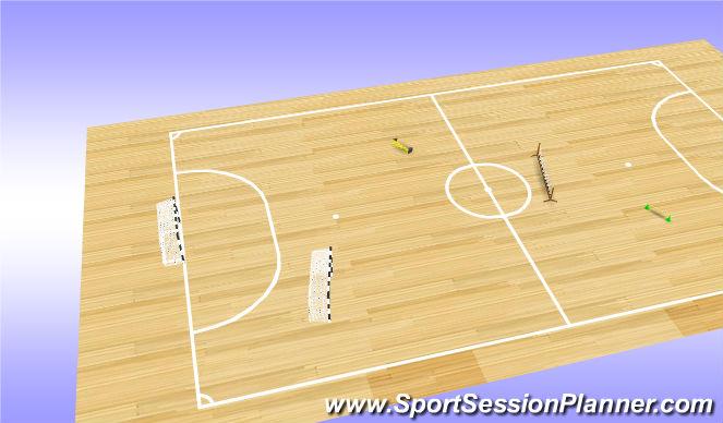 Futsal Session Plan Drill (Colour): 4v4