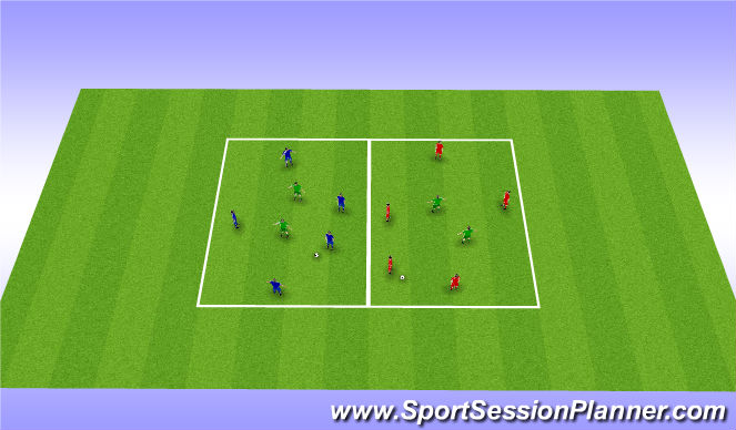 Football/Soccer Session Plan Drill (Colour): Possession box work