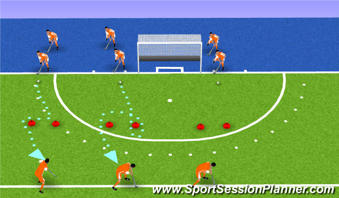 Hockey Session Plan Drill (Colour): drag naar rechts
