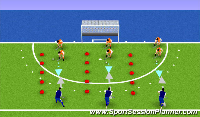 Hockey Session Plan Drill (Colour): blocktackle
