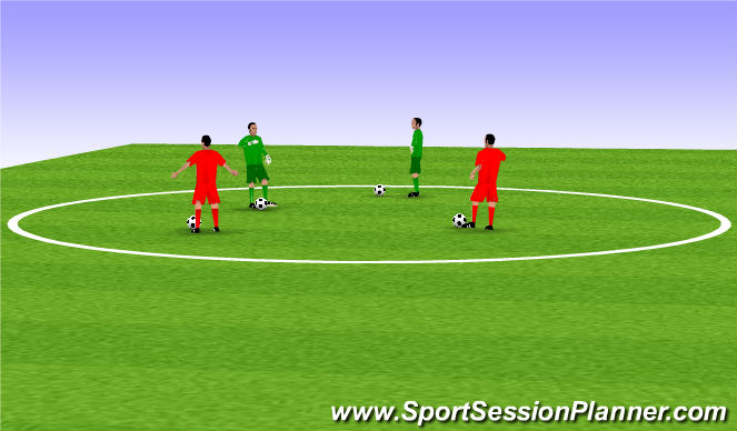 Football/Soccer Session Plan Drill (Colour): Red Light Green Light