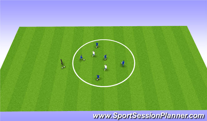 Football/Soccer Session Plan Drill (Colour): Stealer & Knock Out
