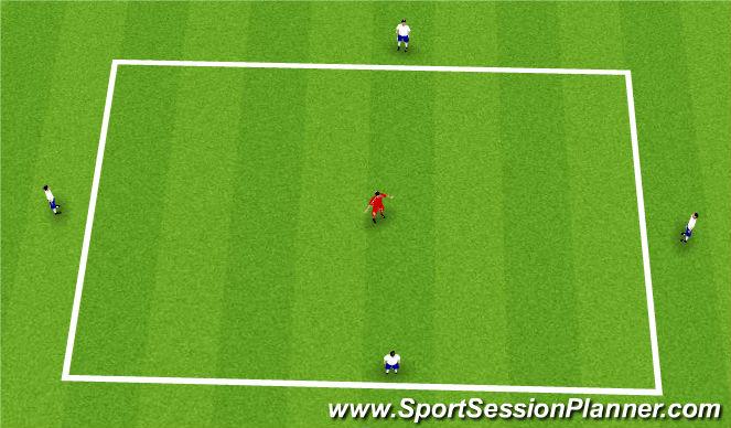 Football/Soccer Session Plan Drill (Colour): 4v1/3v1