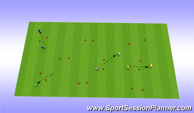 Football/Soccer Session Plan Drill (Colour): Gate, Passing
