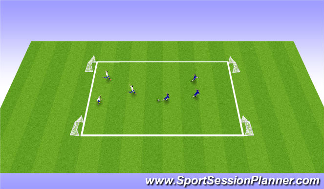Football/Soccer Session Plan Drill (Colour): 2 goal conditioned game