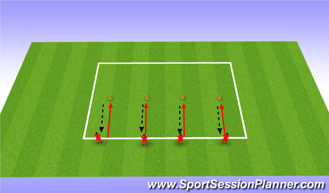 Football/Soccer Session Plan Drill (Colour): Cuerver Warm Up