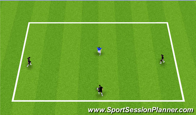 Football/Soccer Session Plan Drill (Colour): 3v1 Keep Away + Passing Progression