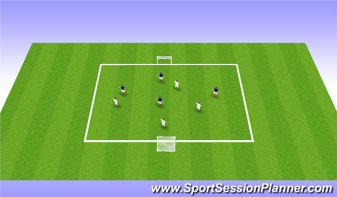 Football/Soccer Session Plan Drill (Colour): 4v4a