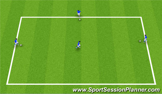 Football/Soccer Session Plan Drill (Colour): U12's: Deft First Touch