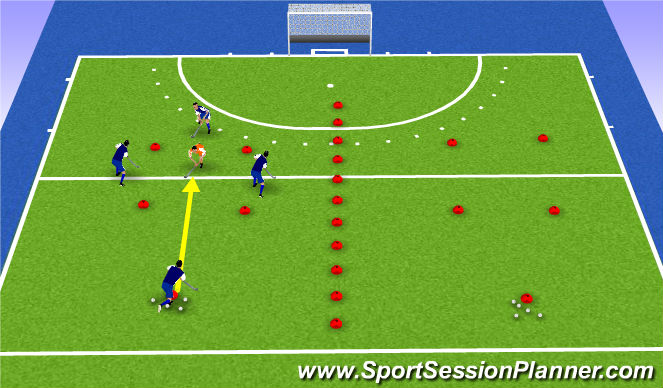 Hockey Session Plan Drill (Colour): great escape