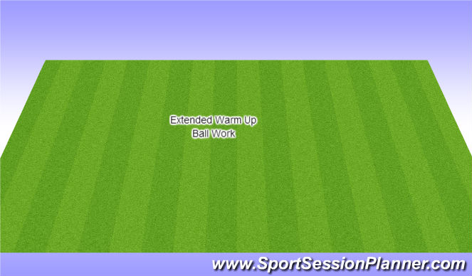 Football/Soccer Session Plan Drill (Colour): Ball Work