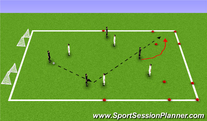 Football/Soccer Session Plan Drill (Colour): SSG 2 touch changeover.