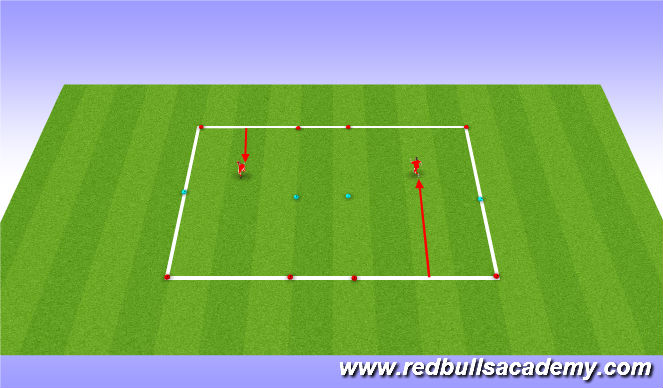 Football/Soccer Session Plan Drill (Colour): Shoulder feint unopposed