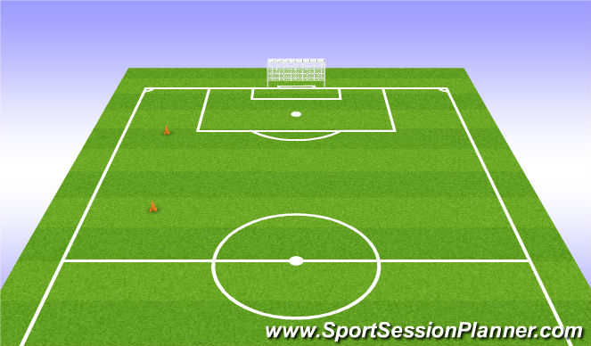 Football/Soccer Session Plan Drill (Colour): 23-24 Yard Shuttles