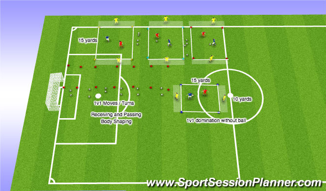Football/Soccer Session Plan Drill (Colour): Field Set up
