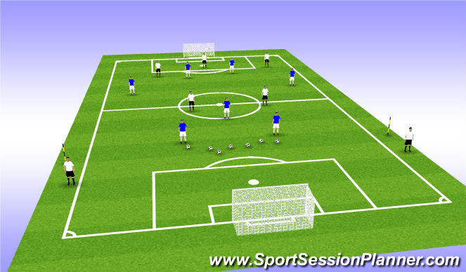 Football/Soccer Session Plan Drill (Colour): Defending Counter Attack GRP  4
