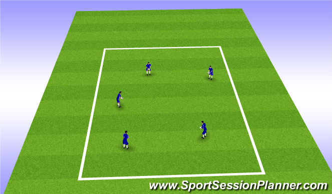 Football/Soccer Session Plan Drill (Colour): Juggling Arrival Warm-Up