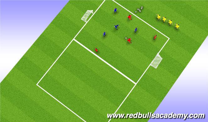 Football/Soccer Session Plan Drill (Colour): 4 v. 4 Game