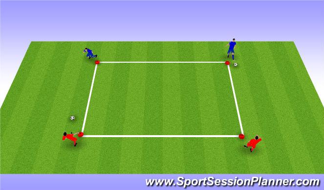 Football/Soccer Session Plan Drill (Colour): Upphitu: