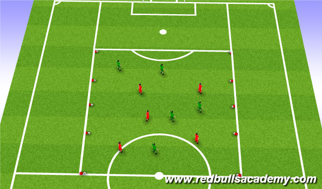 Football/Soccer Session Plan Drill (Colour): Main Theme continued