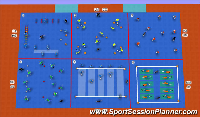 Futsal Session Plan Drill (Colour): Soccer Stations