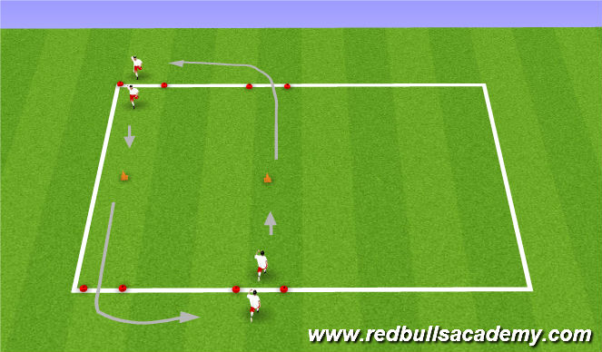 Football/Soccer Session Plan Drill (Colour): Practice 1 - Repetitions