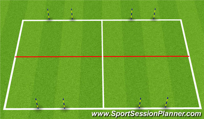 Football/Soccer Session Plan Drill (Colour): SSG with Dribbling Challenge