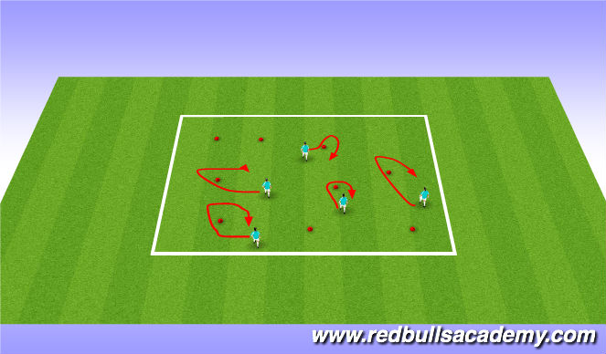 Football/Soccer Session Plan Drill (Colour): Mini Kick Pirates O.C.
