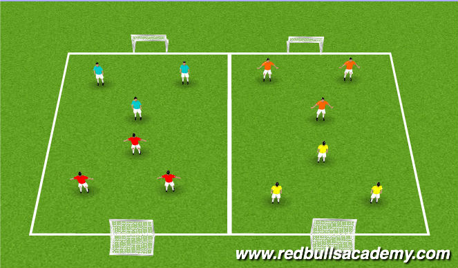 Football/Soccer Session Plan Drill (Colour): 3v3 Tournament Game(s)