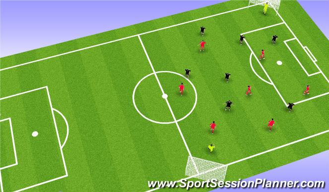 Football/Soccer Session Plan Drill (Colour): Diamond match