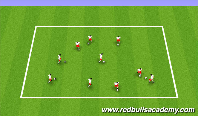 Football/Soccer Session Plan Drill (Colour): Coach says Transformers