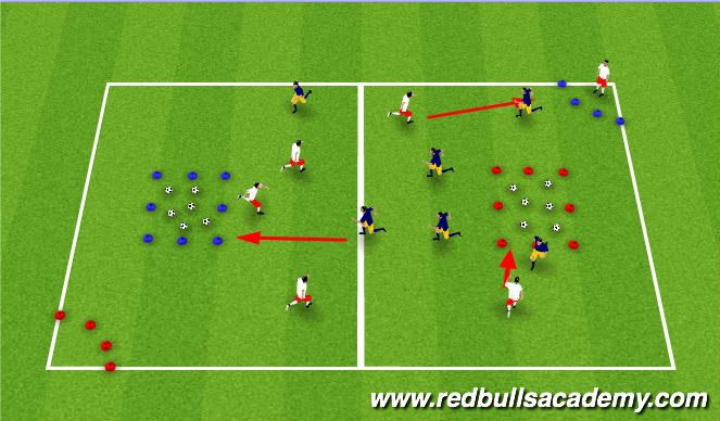 Football/Soccer Session Plan Drill (Colour): Battle for Cybertron