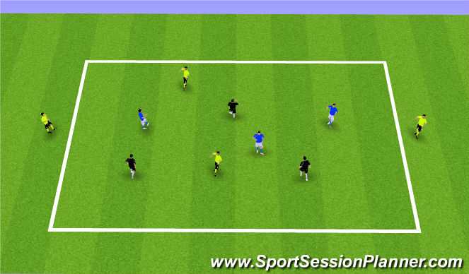 Football/Soccer Session Plan Drill (Colour): Optional: Possession with Direction