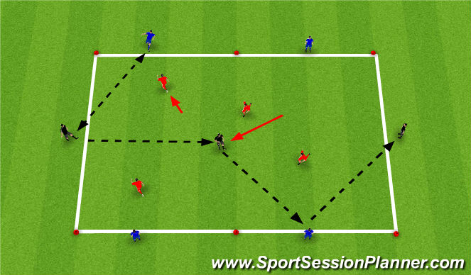 Football/Soccer Session Plan Drill (Colour): Ajax/Bayern Possession Game