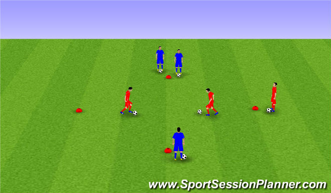 Football/Soccer Session Plan Drill (Colour): Moves Step 6 II